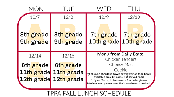 TPPA Fall Lunch Schedule 2 PNG